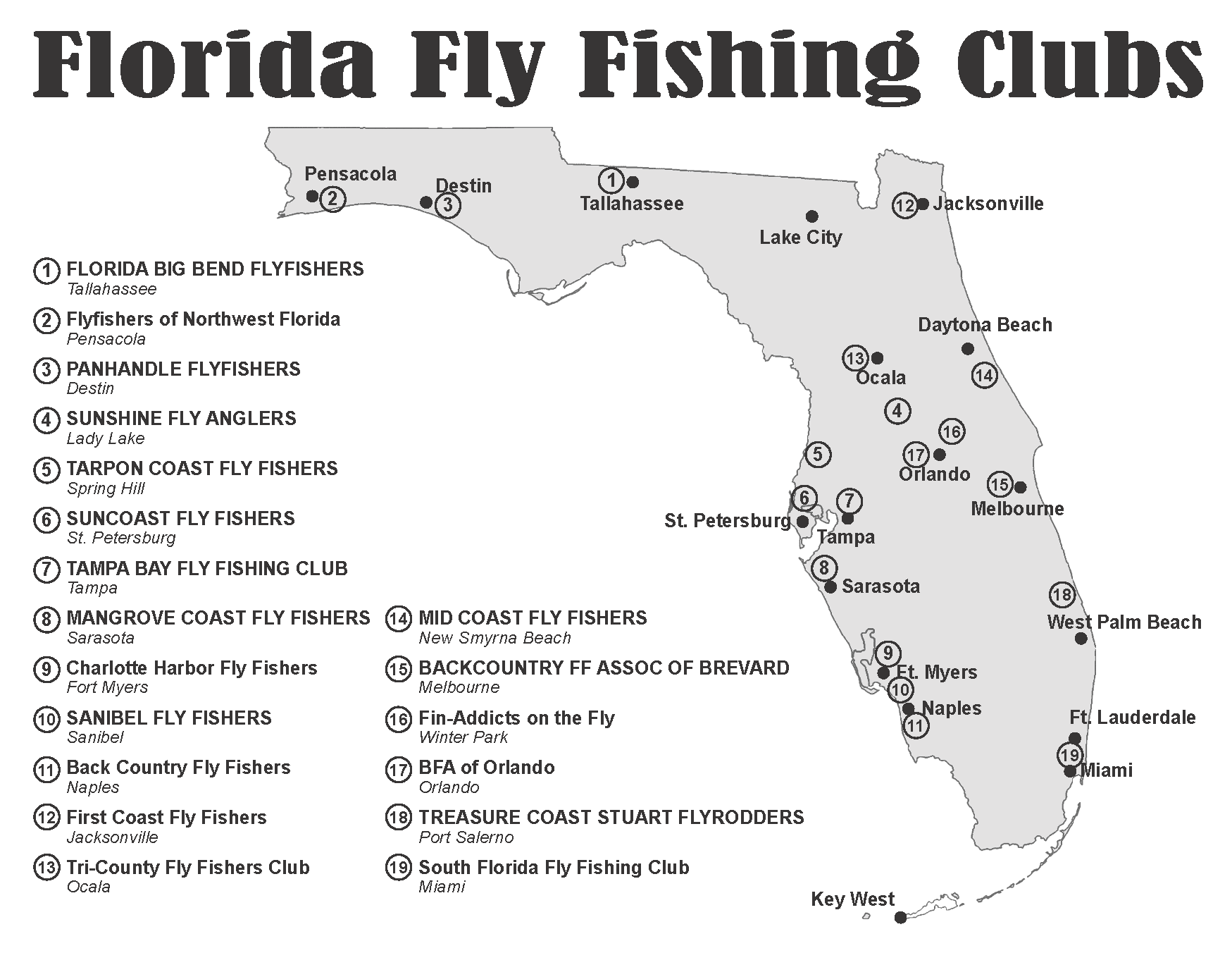Florida fly fishing clubs mangrove coast fly fishers for Fly fishing clubs